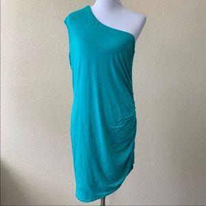 Maitai One Shoulder Green Dress